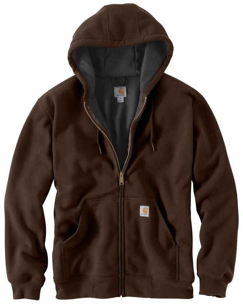 Carhartt Men's Thermal Lined Hooded Zip Jacket - Big & Tall, Dark Brown, hi-res