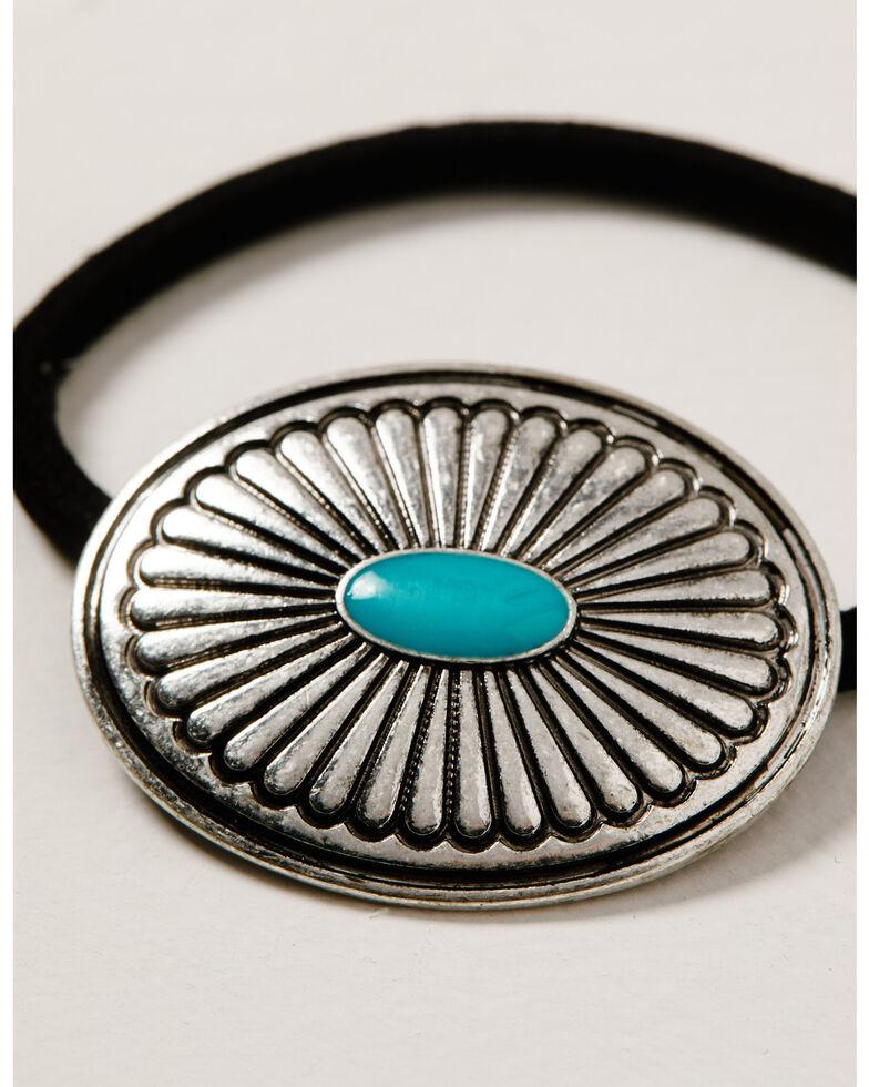 Idyllwind Women's Dime A Dozen Concho Hair Tie, Silver, hi-res