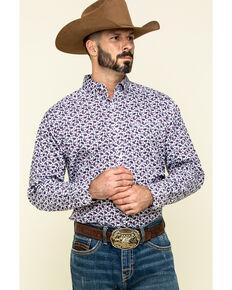 Ariat Men's Talladega Paisley Print Long Sleeve Western Shirt - Tall , White, hi-res