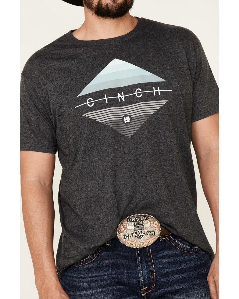 Cinch Men's Charcoal Diamond Logo Graphic T-Shirt , Charcoal, hi-res