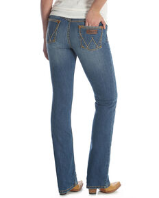 Wrangler Retro Women's Mae Mid Rise Jeans - Plus, Blue, hi-res