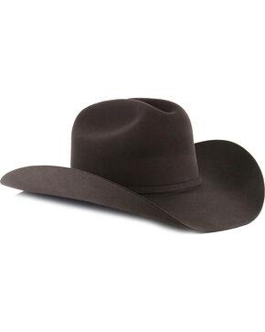 George Strait by Resistol Logan 6X Black Fur Felt Cowboy Hat, Charcoal, hi-res