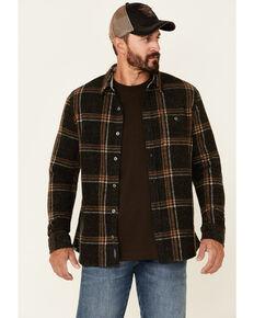 Flag & Anthem Men's Sellar Plaid Long Sleeve Button-Down Stretch Flannel Western Shirt , Charcoal, hi-res