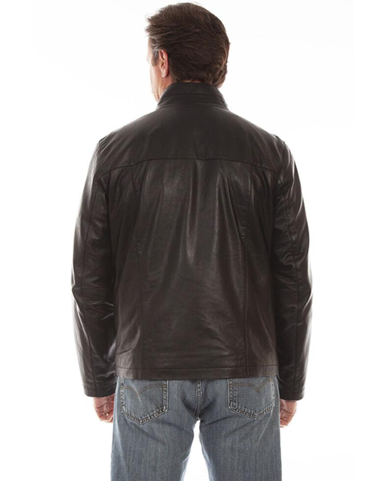 Scully Men's Black Lamb Leather Zip Front Jacket , Black, hi-res