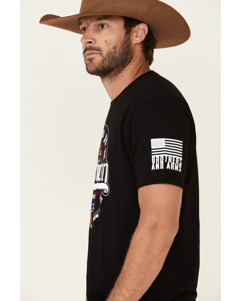 Brothers & Arms Men's Proud To Be American Graphic T-Shirt , Black, hi-res