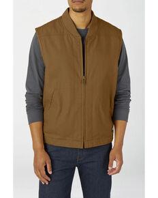 Dickies Men's Rinsed Brown Brushed Sherpa Duck Work Vest , Brown, hi-res
