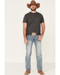 Rock & Roll Denim Men's Vintage 46 Light Revolver Stretch Slim Straight Jeans , Blue, hi-res