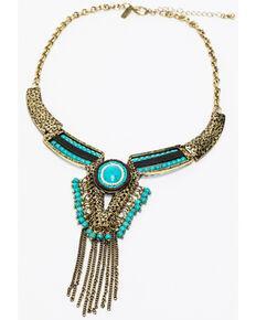 Shyanne Women's Summer Escape Copper Chain Collar Necklace , Tan/copper, hi-res