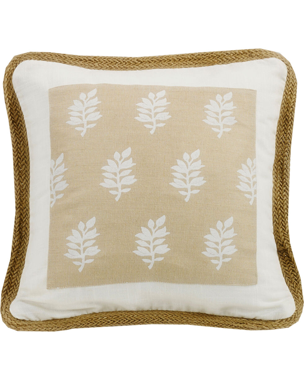 HiEnd Accents Cream Newport Square Pillow, Cream, hi-res