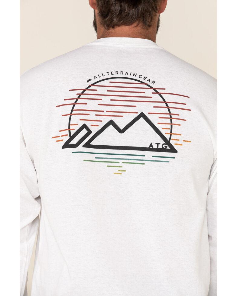 Wrangler All-Terrain Men's White Mountain Outline Graphic Long Sleeve T-Shirt , White, hi-res