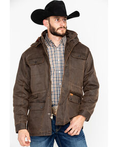 Outback Trading Co. Men's Langston 2-Way Fleece Jacket , Brown, hi-res