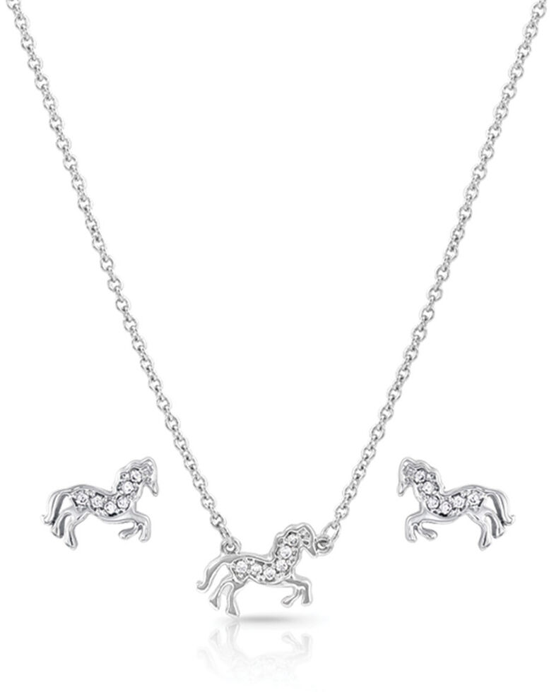 Montana Silversmiths Women's All The Pretty Horses Jewelry Set, Silver, hi-res