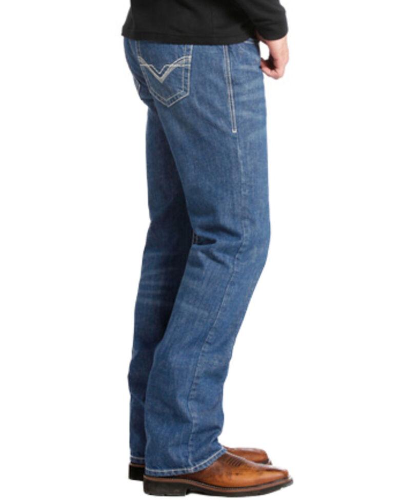 Rock & Roll Denim Medium Wash Double Barrel Relaxed Fit Flame Resistant Jeans - Boot Cut , Indigo, hi-res