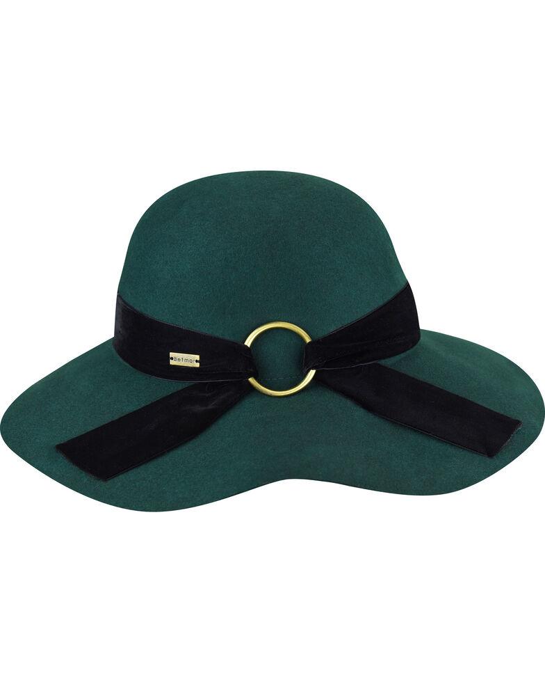 Betmar Women's Wharton Emerald Wide Brim Floppy Hat, Green, hi-res