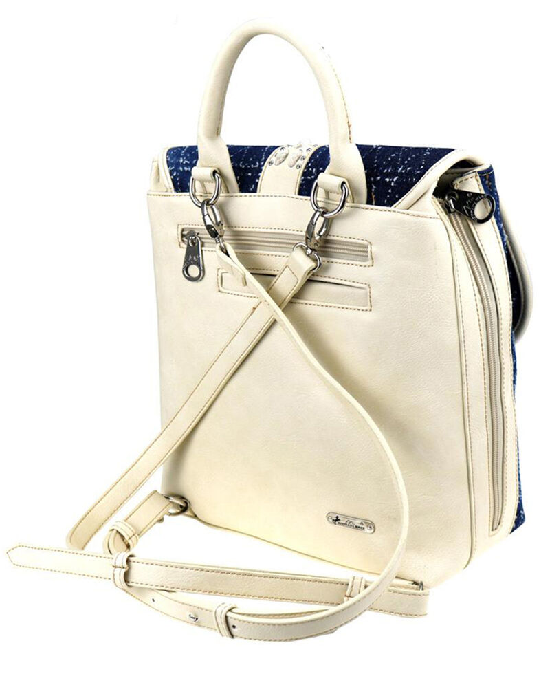 Montana West Women's Lacey Embroidered Backpack, Beige/khaki, hi-res
