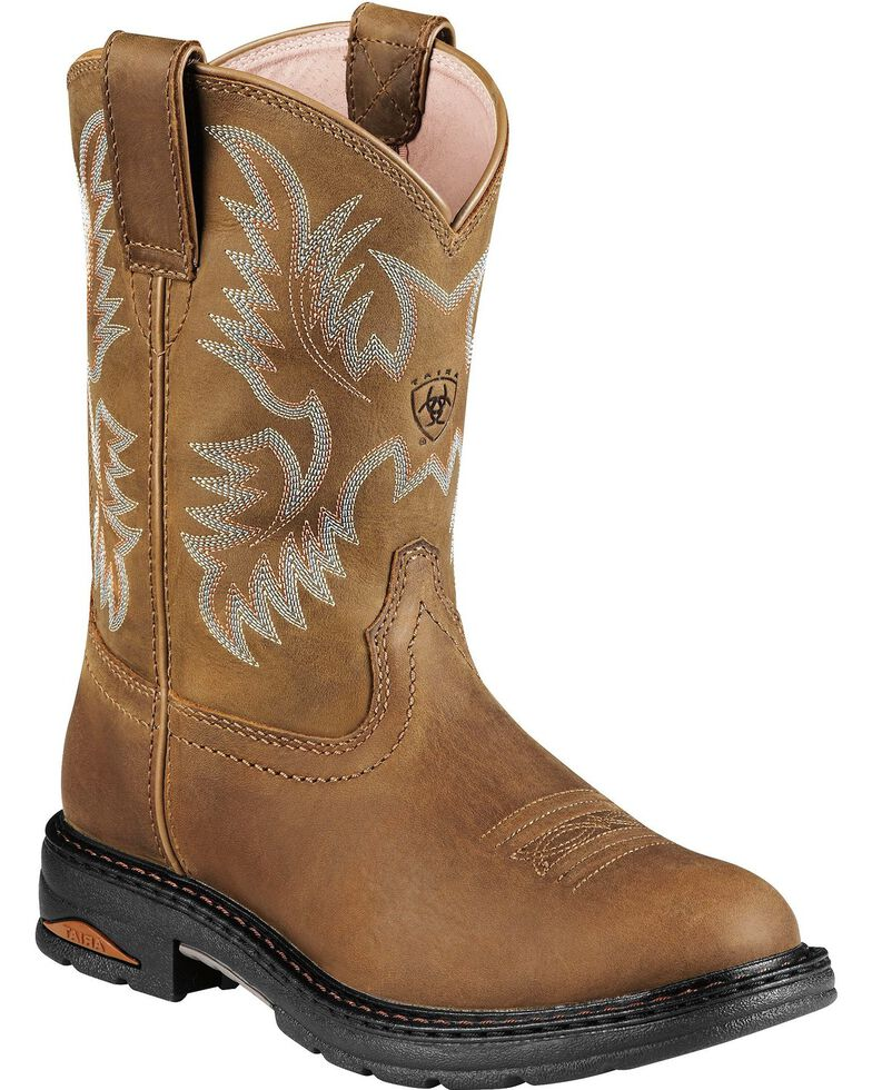 Ariat Tracey Pull-On Work Boots - Comp Toe, Dusty Brn, hi-res