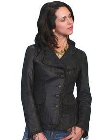 Scully Women's Fringe Lamb Leather Jacket, Black, hi-res