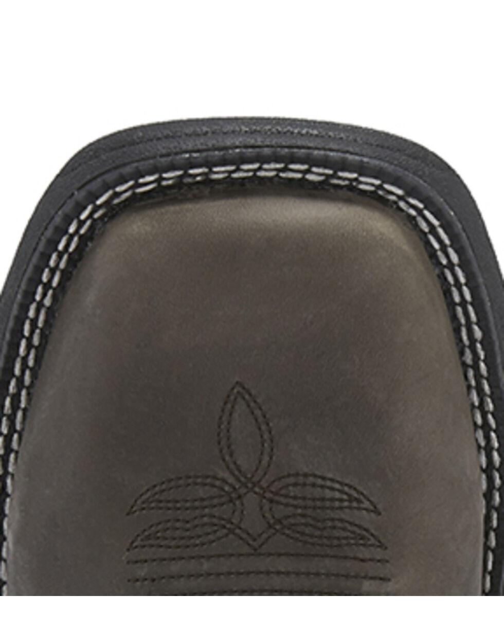 Justin Men's Stampede Magnetic Steel Western Work Boots - Soft Toe, Grey, hi-res