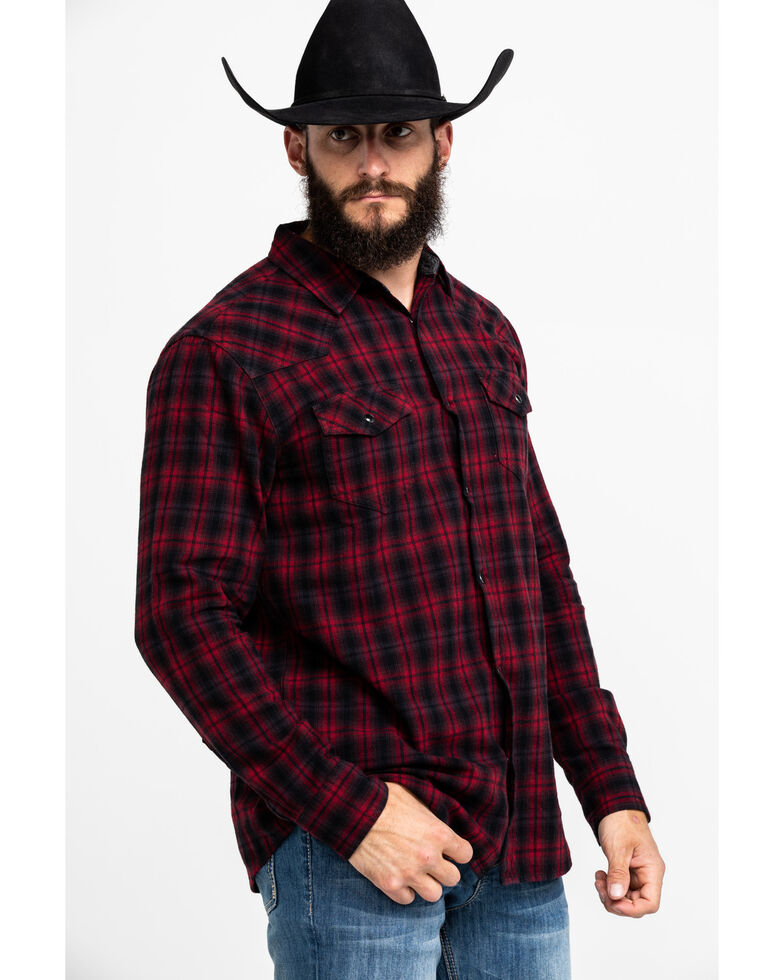 Cody James Men's Christmas Plaid Long Sleeve Western Flannel Shirt - Tall , Red, hi-res