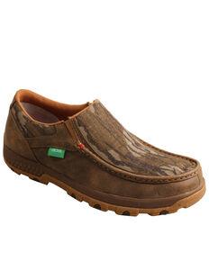 Twisted X Men's Mossy Oak Original Bottomland Chukka Driving Moc Shoes - Moc Toe, Camouflage, hi-res