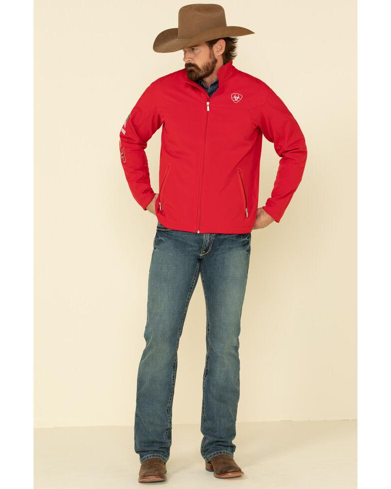 Ariat Men's Red Mexico New Team Softshell Jacket , , hi-res
