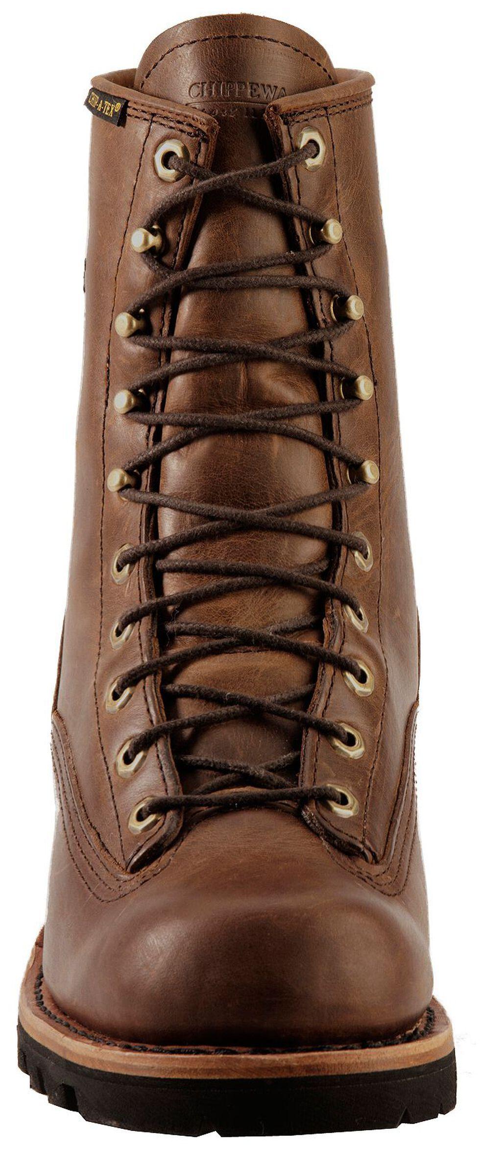 "Chippewa Lace-Up Waterproof 8"" Logger Boots - Steel Toe, Bay Apache, hi-res"