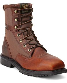 """Ariat RigTek 8"""" Lace-Up Work Boots - Steel Toe, Brown, hi-res"""