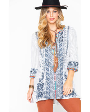 Johnny Was Women's Tahndi Kaftan Tunic Shirt , Multi, hi-res