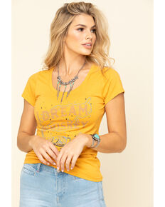 Idyllwind Women's Dream of Whiskey Trustie Tee, Yellow, hi-res