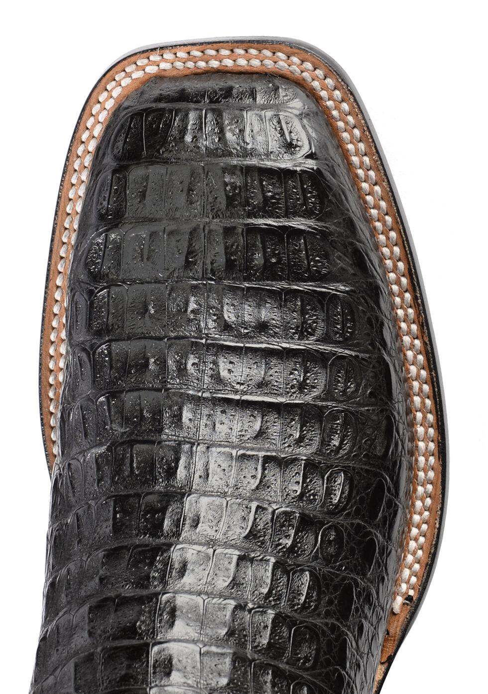 Lucchese Handmade 1883 Men's Rhys Hornback Caiman Cowboy Boots - Square Toe, Black, hi-res