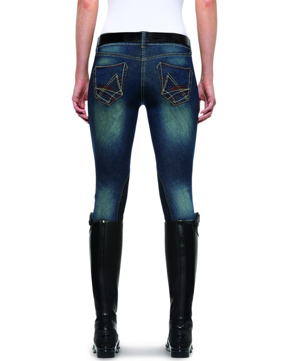 Ariat Women's Denim Breeches, Indigo, hi-res