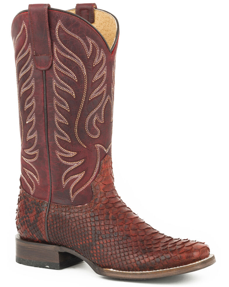 Roper Women's Red Trudy Triad Python Boots - Snip Toe, Red, hi-res