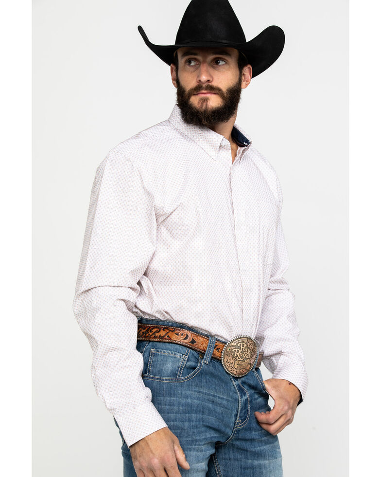 Cody James Core Men's Dolores Check Plaid Long Sleeve Western Shirt - Tall , White, hi-res