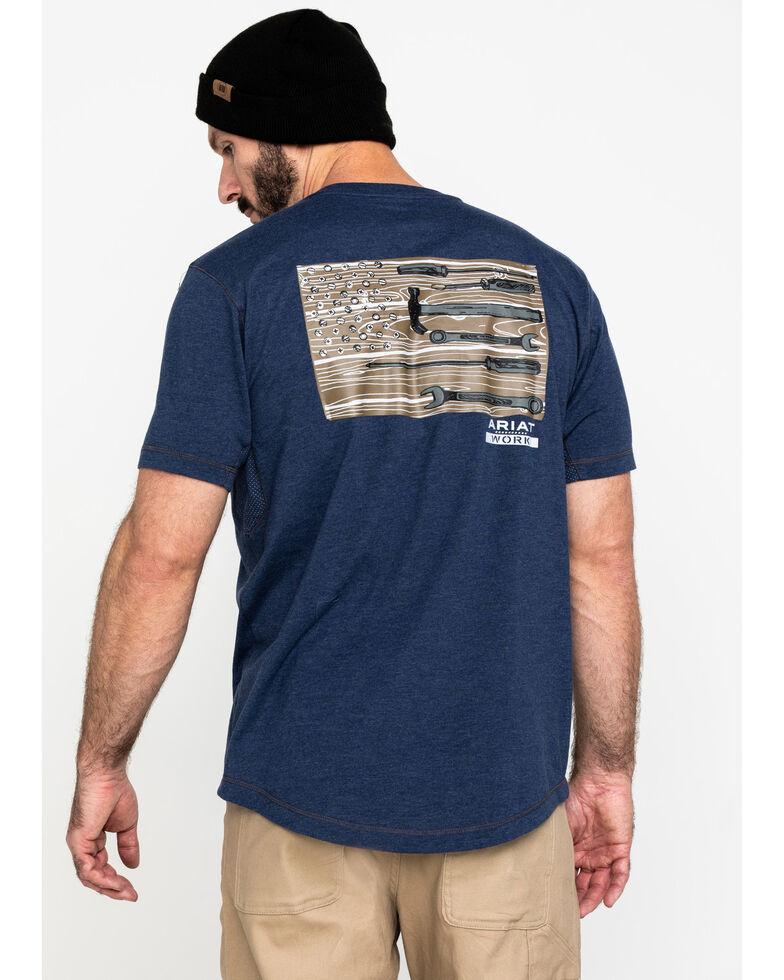 Ariat Men's Navy Rebar Workman Technician Graphic Work T-Shirt , Navy, hi-res