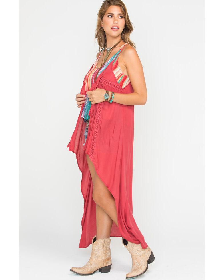 Ariat Women's Dark Pink Samantha Tie Tank , Dark Pink, hi-res