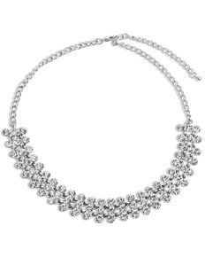 Montana Silversmiths Women's Band of Stars Choker Necklace, Silver, hi-res