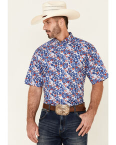 Ariat Men's Bali Floral Print Short Sleeve Button-Down Western Shirt , Multi, hi-res