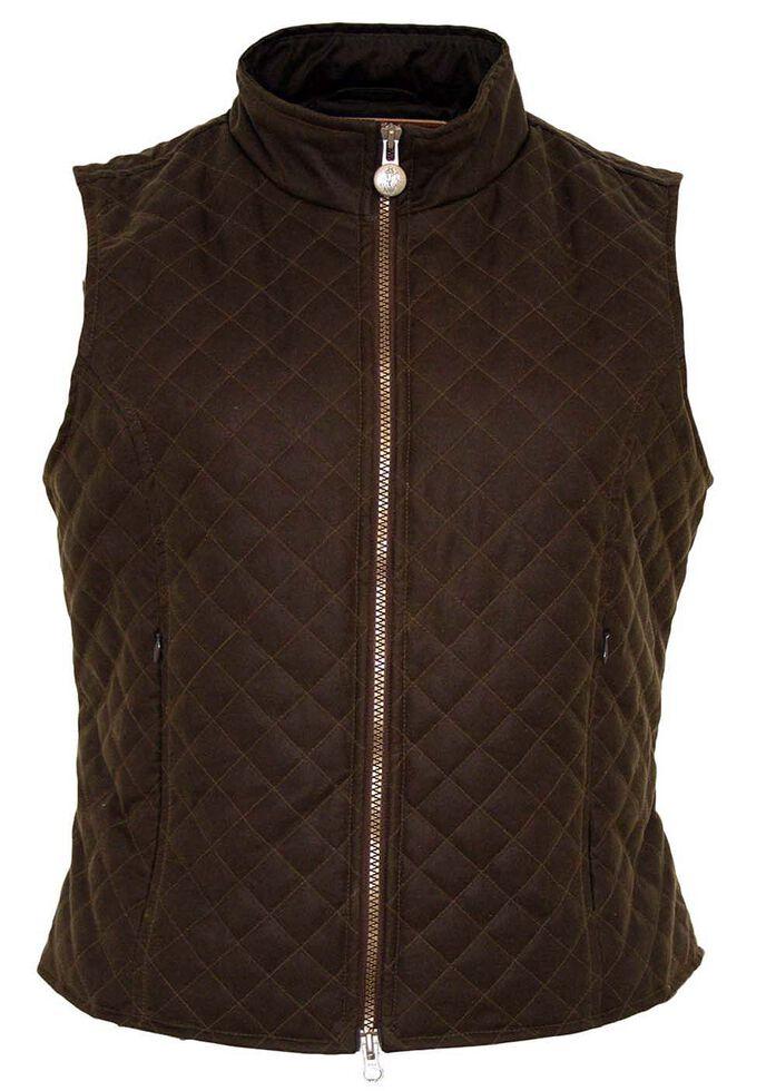 Outback Trading Co. Quilted Oilskin Vest, Bronze, hi-res