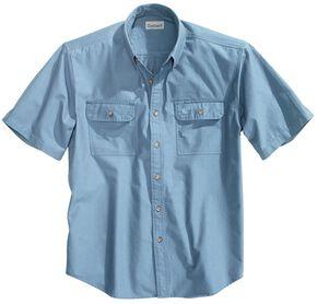 Carhartt Fort Short Sleeve Work Shirt - Big & Tall, Blue, hi-res