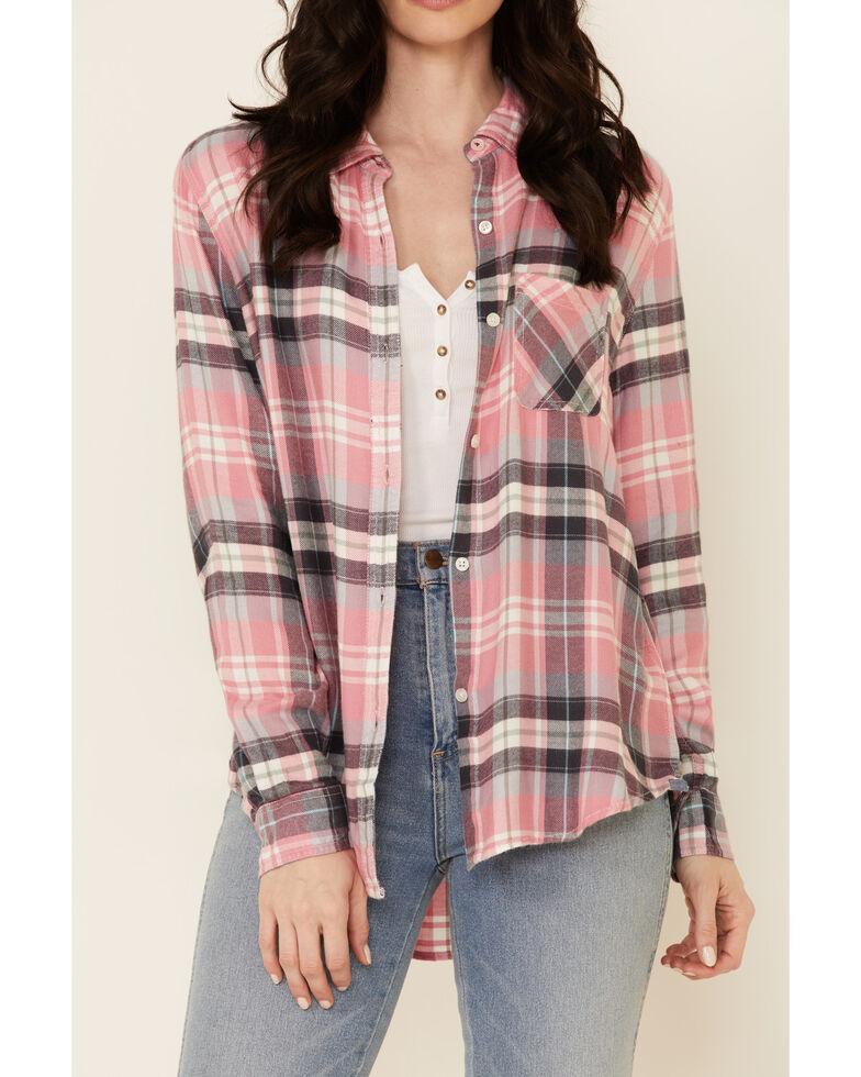 Flag & Anthem Women's Pink Wynne Long Sleeve Button-Down Western Core Shirt , Pink, hi-res