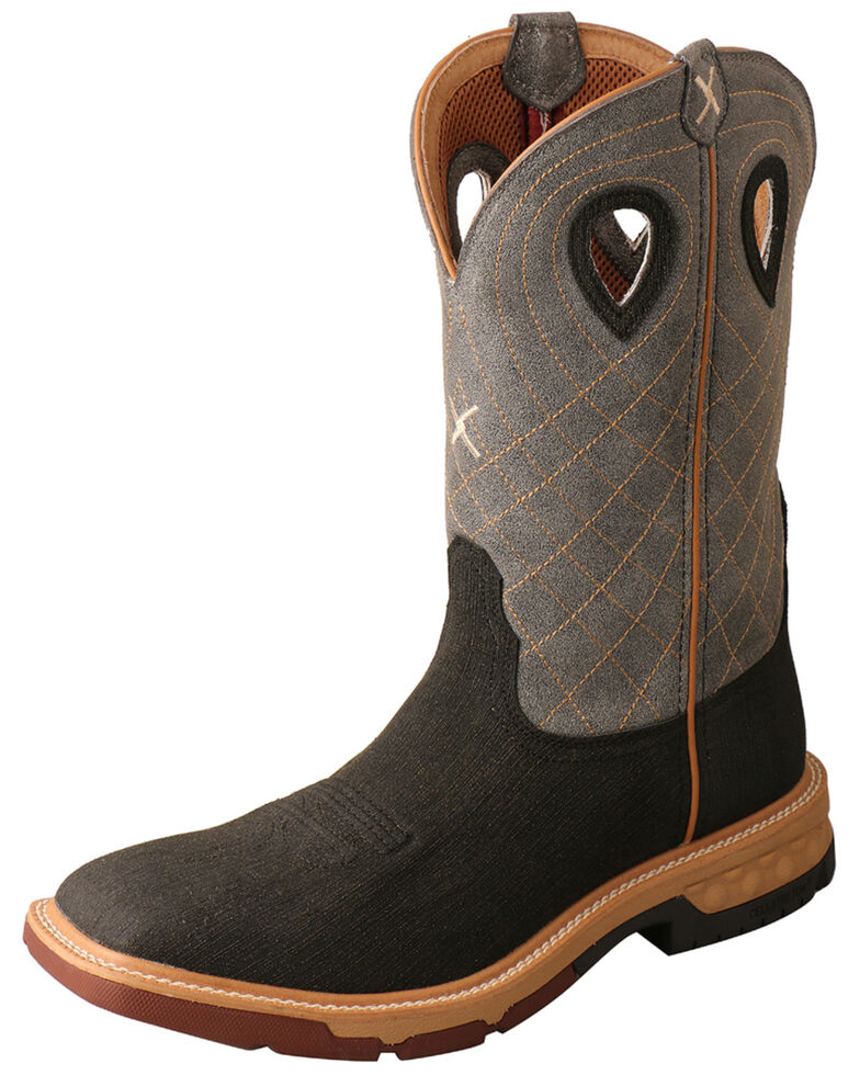 Twisted X Men's Brown CellStretch Western Boots - Wide Square Toe, Brown, hi-res