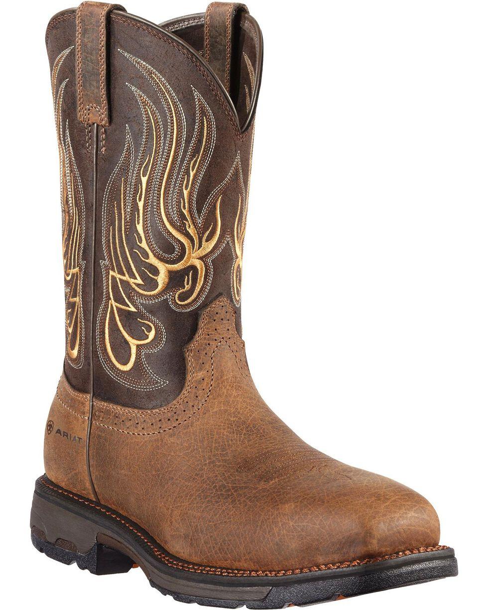 Ariat Workhog Mesteno Work Boots - Composite Toe, Earth, hi-res