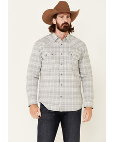 Moonshine Spirit Men's Topock Aztec Stripe Long Sleeve Snap Western Shirt , Grey, hi-res