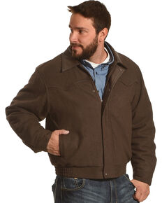 Cripple Creek Men's Chocolate Melton Wool Jacket , Chocolate, hi-res