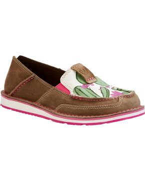 Ariat Women's Cactus Flower Slip On Cruiser Shoes , Multi, hi-res