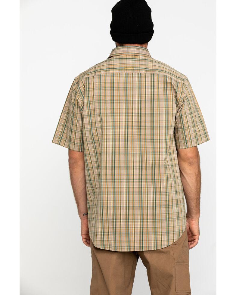 Ariat Men's Tan Plaid Rebar Made Tough Short Sleeve Work Shirt - Big , Beige/khaki, hi-res