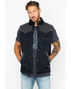 Moonshine Spirit Men's Solid Truckee Quilted Snap Vest  , Black, hi-res
