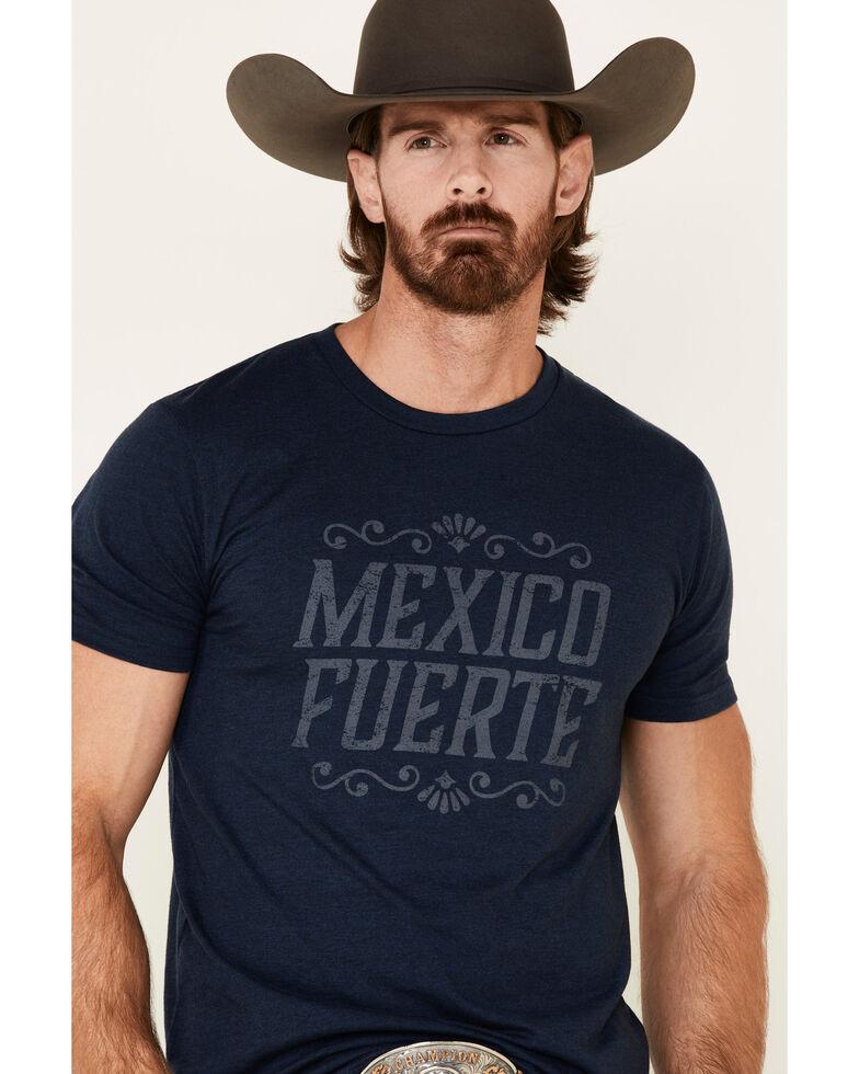 Cody James Men's Navy Mexico Fuerte Graphic T-Shirt , Navy, hi-res