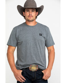Cinch Men's Grey Logo Rodeo Brand Graphic T-Shirt , Grey, hi-res