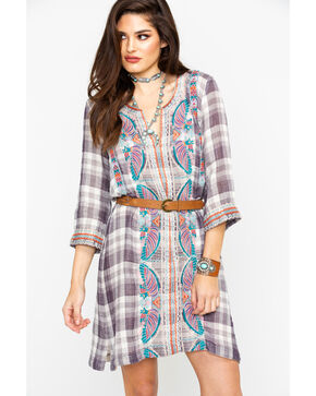 Johnny Was Women's Claudine Plaid Dress, Multi, hi-res